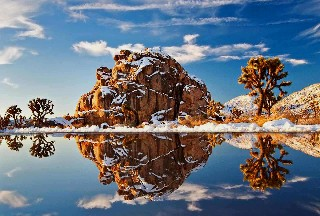 Nature Reflection Snow Winter Desert Rock Stone