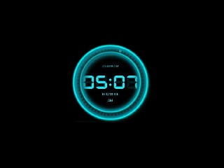 digital clock neon tron