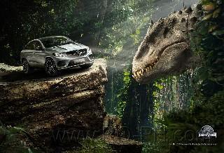 Jurassic cars nature new world wallpaper