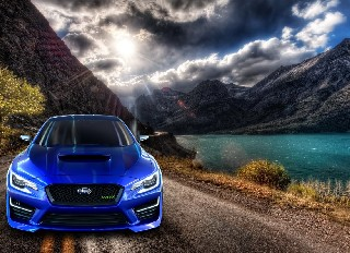 alpine mountain road cars hd