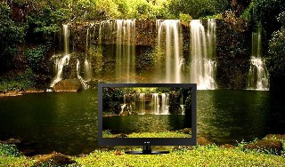 LCD beautiful natural waterfalls wallpaper 3