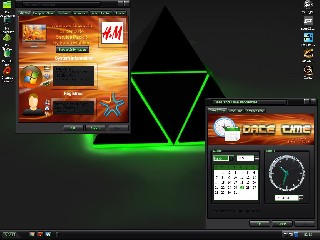 XoddX Green theme win xp super glass