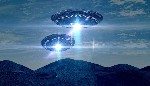 ufo saparition wallpaper blue light